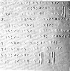 notation musicale en braille